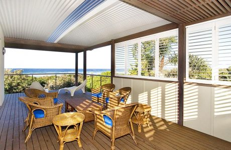 Roof Patio Cover with view